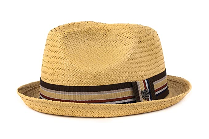 b7cb2ca15f4 Amazon.com  Brixton Men s Castor Straw Fedora Hat  Clothing