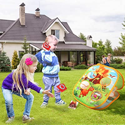 Cornhole Bean Bag Toss Game Set Lawn Backyard for Party Family Playing Together