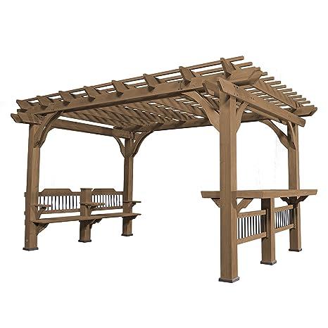 Fantastic Backyard Discovery Oasis 14 X 10 Pergola Cedar Pergola Ibusinesslaw Wood Chair Design Ideas Ibusinesslaworg