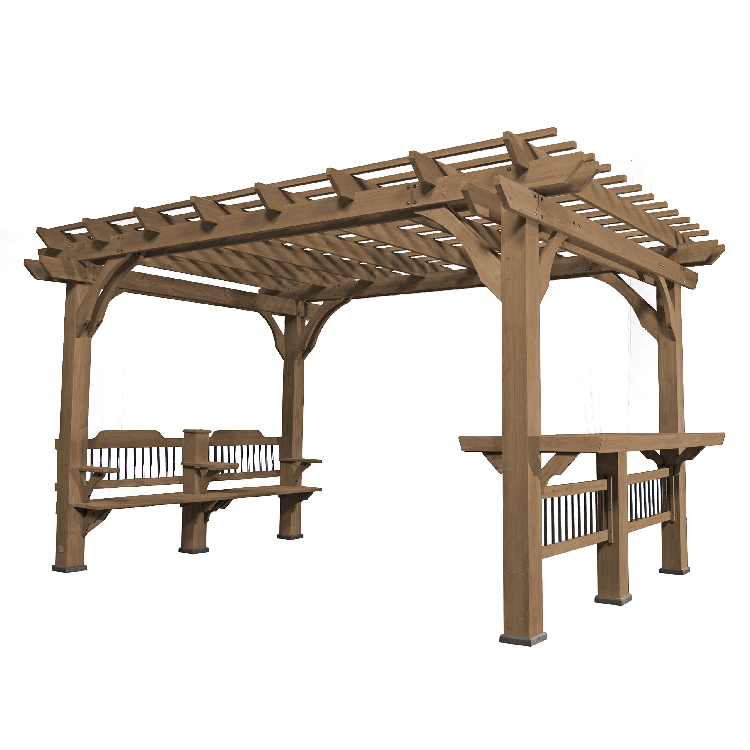 Backyard Discovery Oasis 14 x 10 Pergola Cedar Pergola
