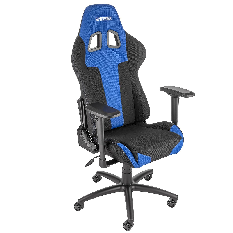 Excellent Amazon Com Spieltek Berserker Gaming Chair V2 Fabric Blue Pdpeps Interior Chair Design Pdpepsorg