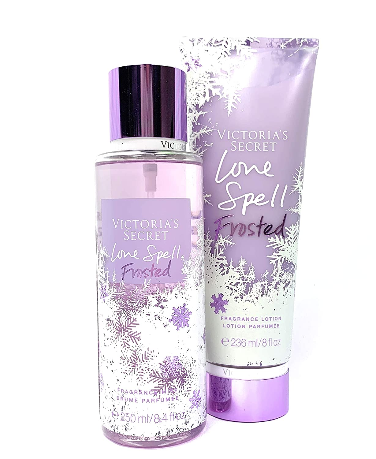 Victoria's Secret Love Spell Frosted Body Mist and Fragrance Lotion Limited Edition Set