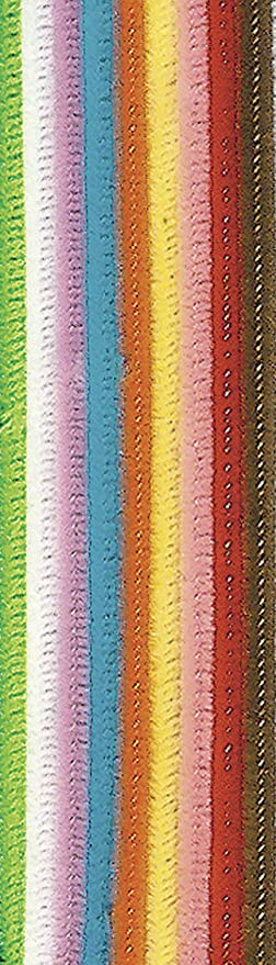 Black Creativity Street Chenille Stems//Pipe Cleaners 12 Inch x 6mm 100-Piece