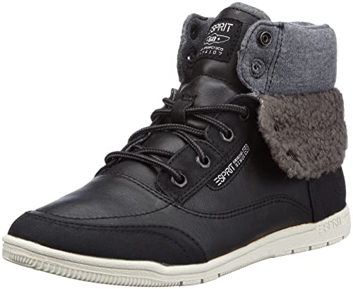 0bec3c829930 ESPRIT Randy Bootie H13110, Damen Fashion Sneakers, Schwarz (black 001), EU