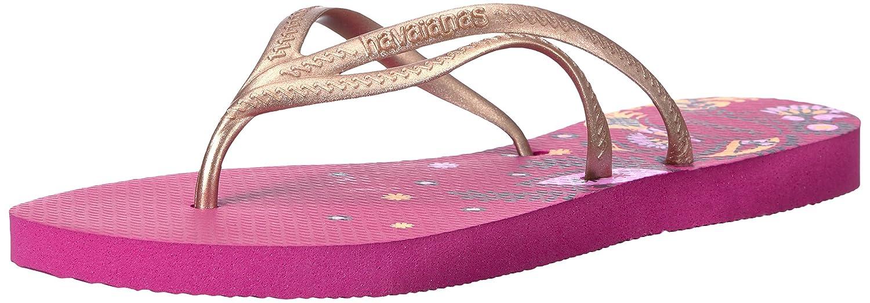 Havaianas Women's Tria Print Sandal Flip Flop, Raspberry Rose, 37 BR/7/8 W US