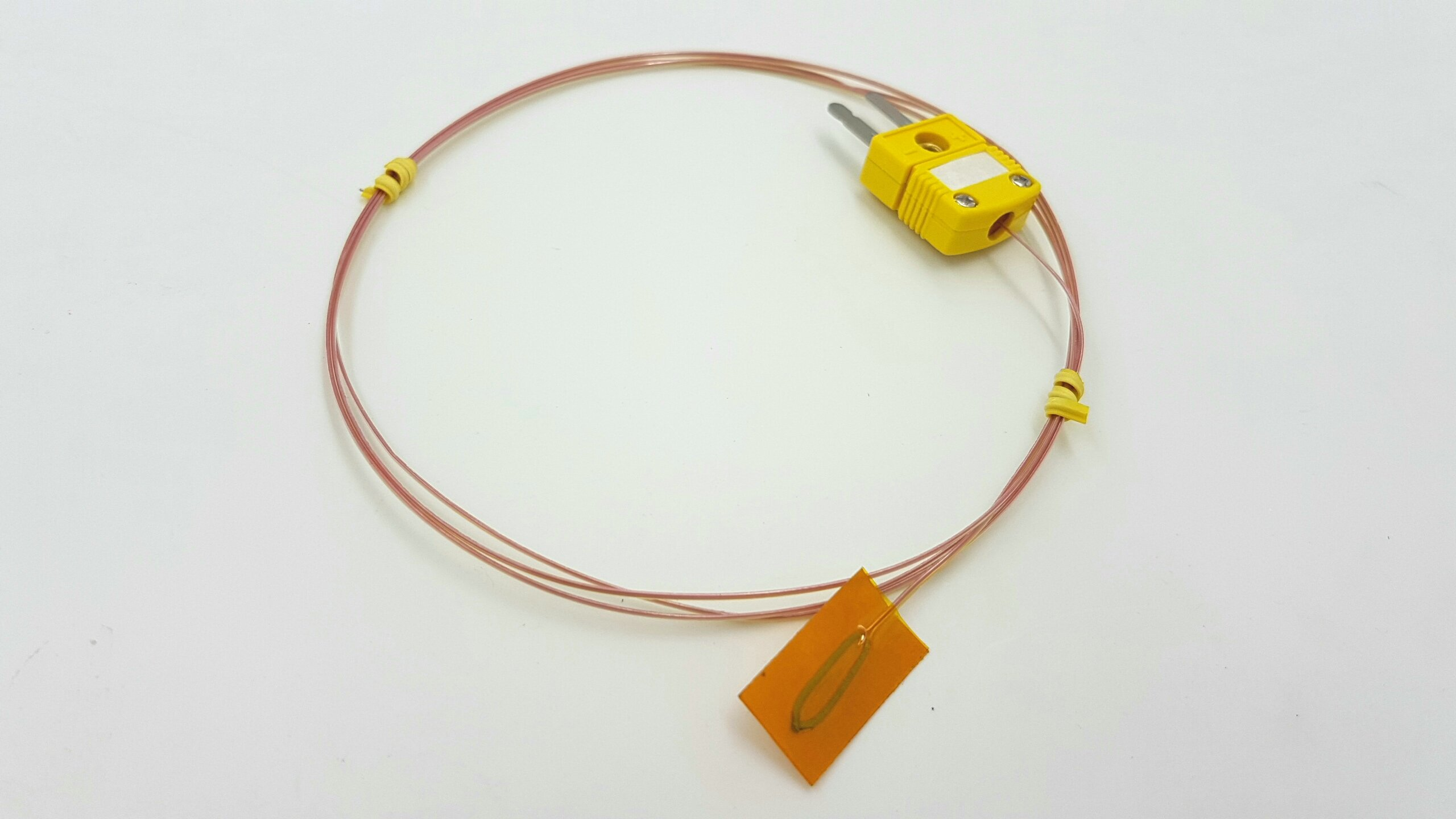 Perfect-Prime TL0225, Surface Contact,0.25 mm diameter, K-Type Sensor Probe with Sticker for K-Type Thermocouple Thermoemter/Meter, Temperature Range up to 200 °C/ 392°F