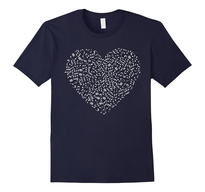 Music Notes Cute Love Heart Musician Fun T-shirt-PL