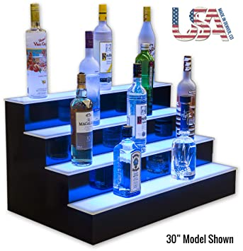 Amazon.com: 4 Tier licor con luz LED Display: Home & Kitchen