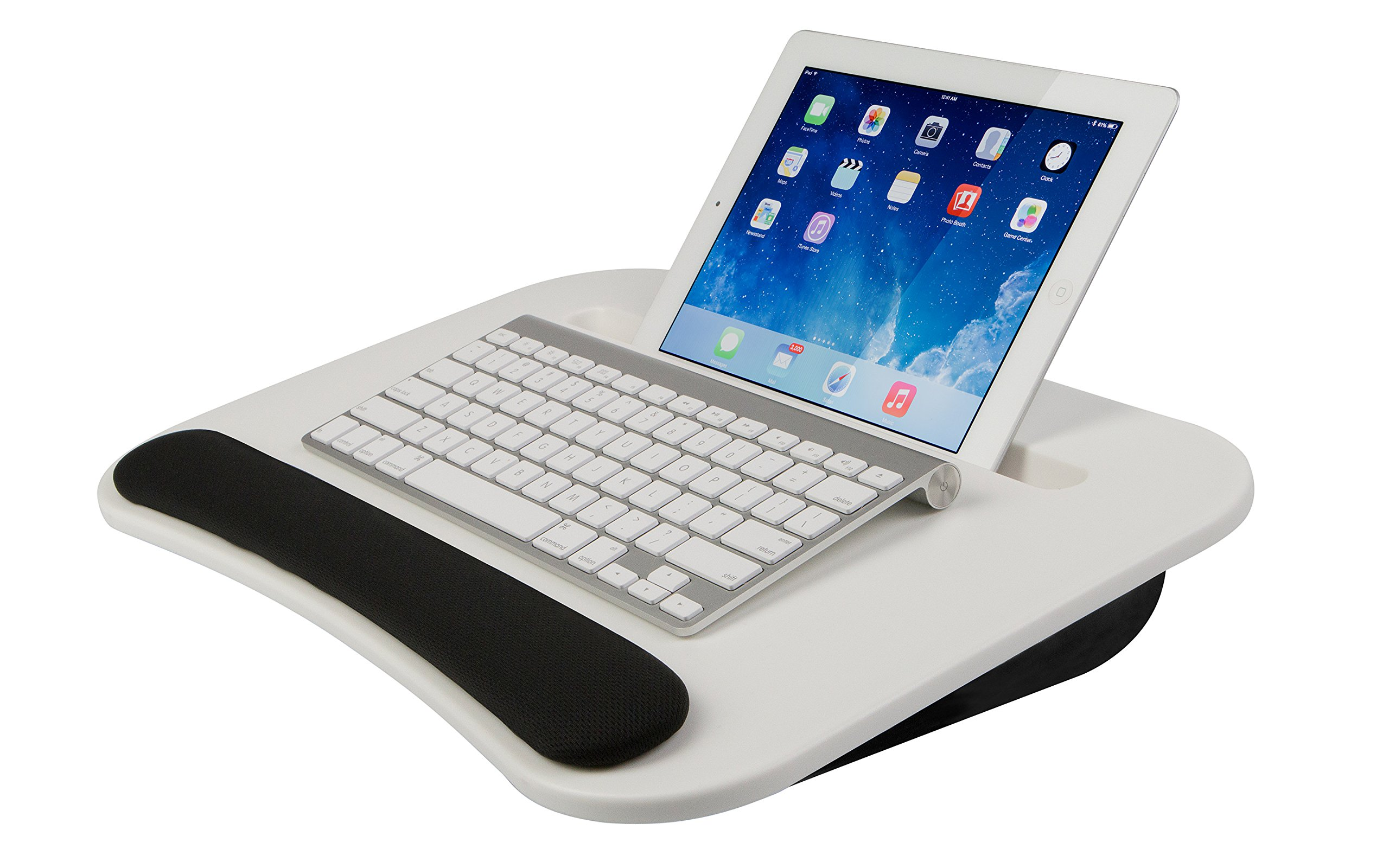 LapGear eDesk Lap Desk - White (Fits up to 10.5'' Tablet/15.6'' Laptop)