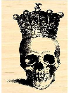 P10 Halloween skeleton rubber stamp 2.5x1.25 WM