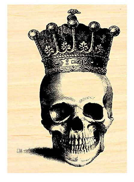 Amazon P35 Skull With Crown Rubber Stamp Arts Crafts Sewing