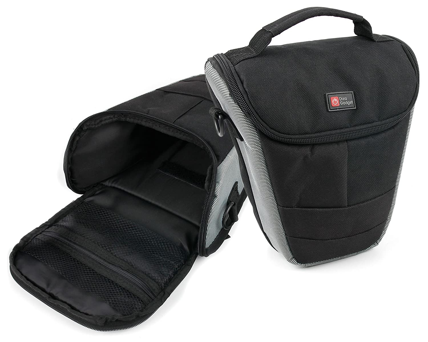 DURAGADGET Hardwearing top-loader Protective Carry Case Bag for the Pentax 645 Z & Rollei 10842 PowerflexブリッジKamera 260フルHD B00M885MVY