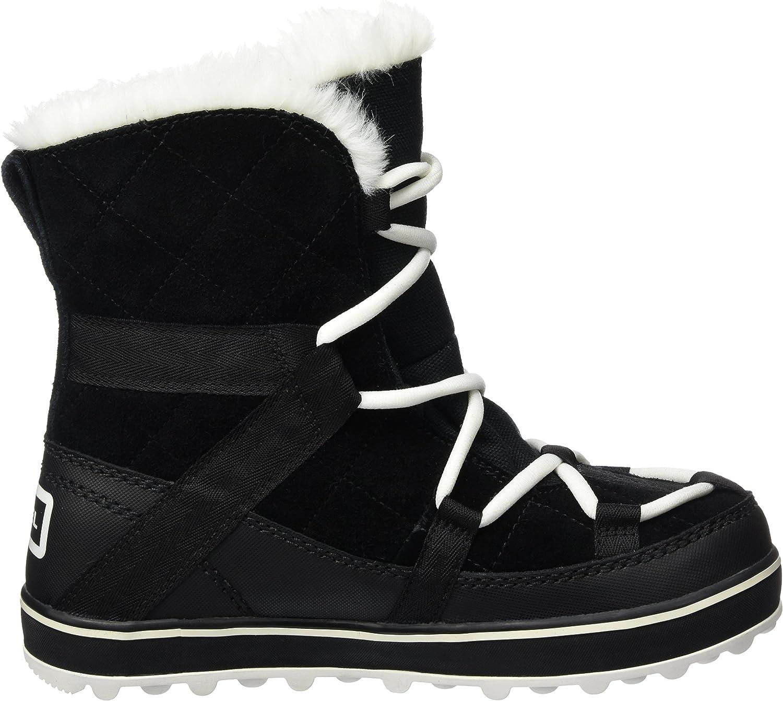 Sorel Damen Stiefel, Glacy Explorer Shortie Schwarz Black