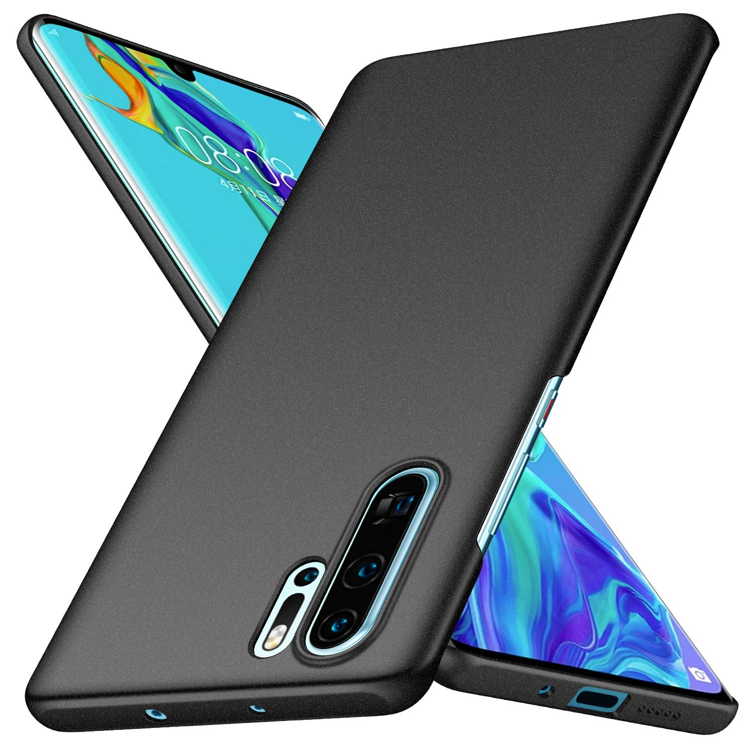 Arkour Huawei P30 Pro Case, Minimalist Ultra Thin Slim Fit Non-Slip Matte Surface Hard PC Cover for Huawei P30 Pro (Gravel Black)