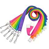 Premium Bright Color Neon Lanyards with Breakaway (Pack of Six) by Specialist ID (Assorted Colors)