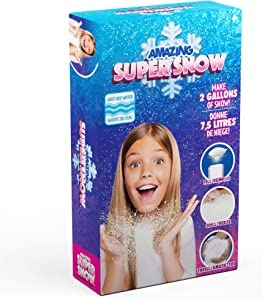 Be Amazing! Toys Super Snow Box Snow Powder - Faux Snow Kit for Kids - Reusable Snow - Makes 2 Gallons of Snow - Winter Display Craft - for Boys & Girls - Ages 4+