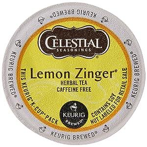 Celestial Seasonings Lemon Zinger Herbal Tea, 24 Count