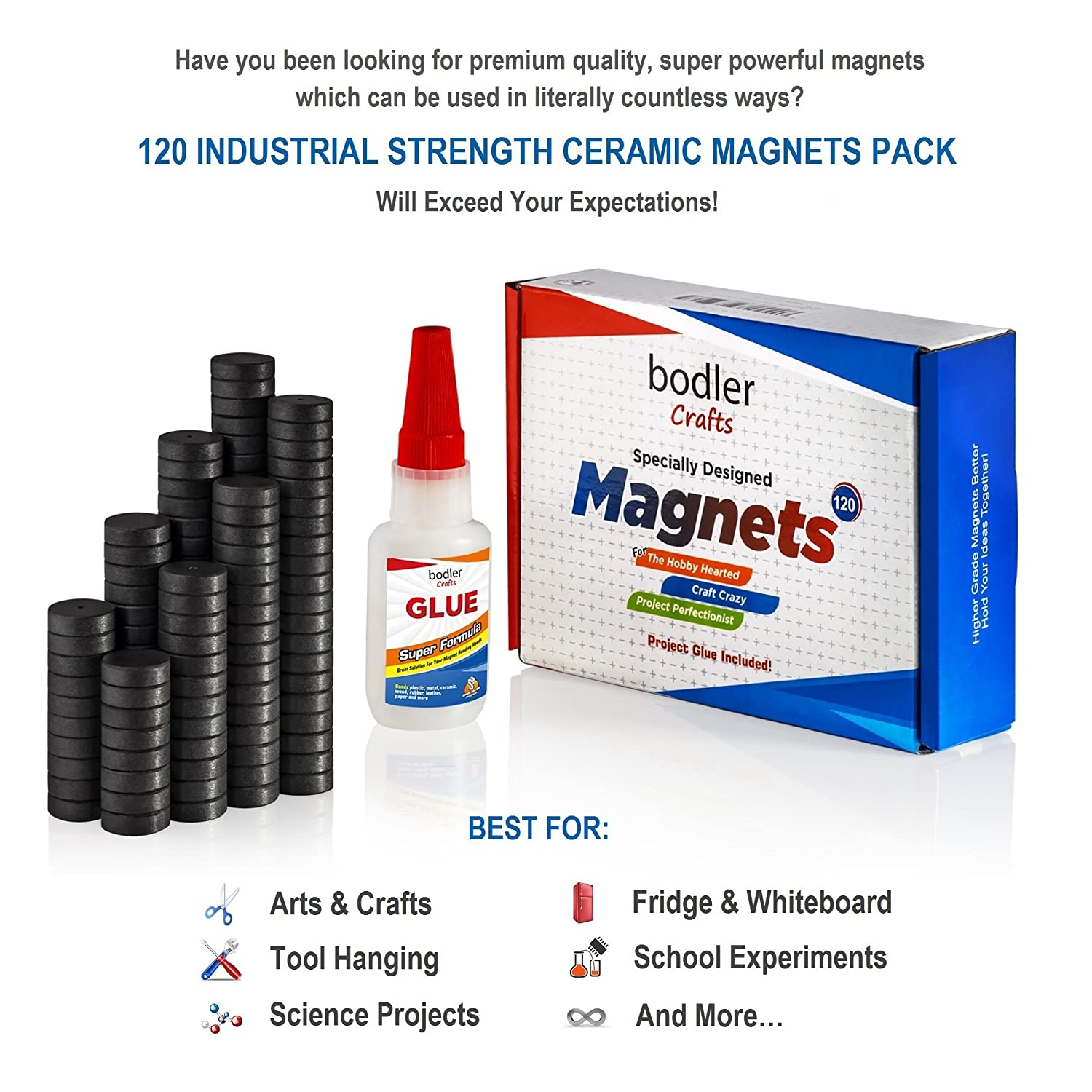 Buy magnets for crafts - Amazon Com 120 Strong Ceramic Industrial Magnets For Arts Crafts By Bodler Grade 8 18mm Small Round Disc Ferrite School Magnets Bulk For Science