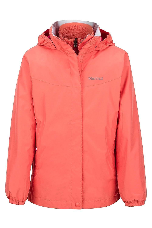 Marmot Northshore Girls' Waterproof Hooded Rain Jacket with Removable Fleece Liner Marmot Mountain B075LF6J8D-P