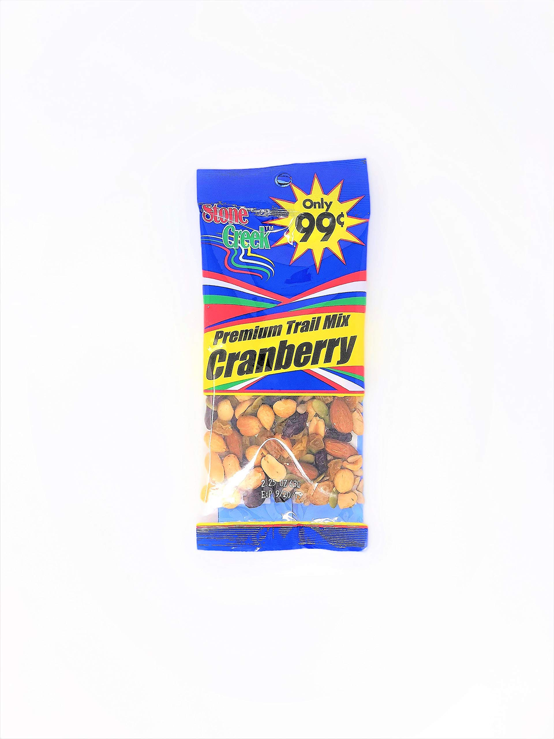 Stone Creek Premium Trail Mix Cranberry 2.25 Ounce (Pack of 12)