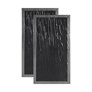 2-PACK Air Filter Factory Compatible Replacement For Whirlpool W10120840A Microwave Hood Charcoal Filter Set