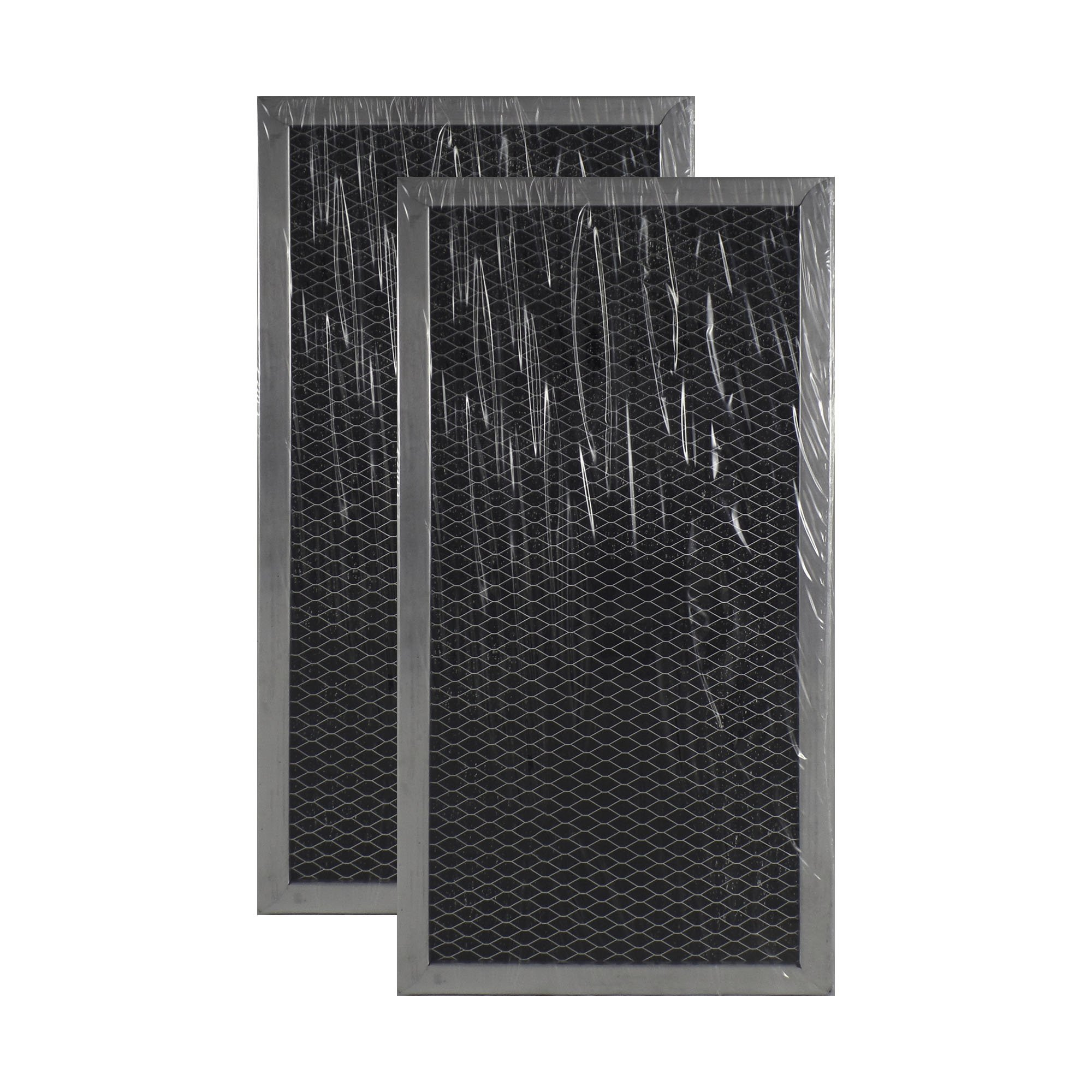 2 PACK Air Filter Factory Compatible Replacement For Whirlpool 1266682 Microwave Hood Charcoal Filter Set