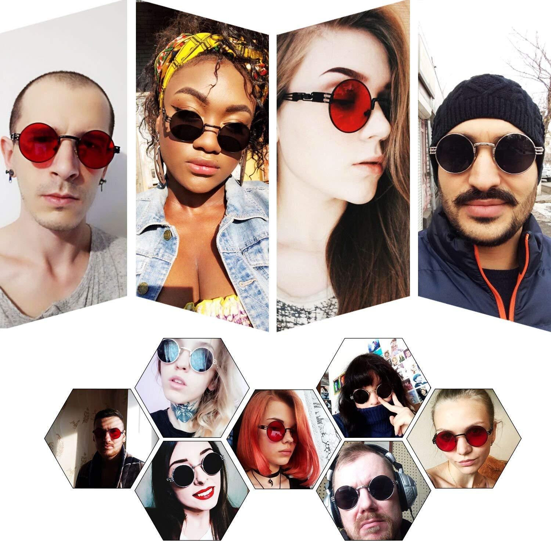 Amazon.com: Gafas de sol redondas para hombre y mujer, de la ...