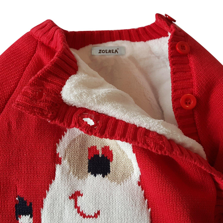 39546bdd0 ZOEREA Baby Sweater Cartoon Pattern toddler Romper Suit Christmas 0 ...