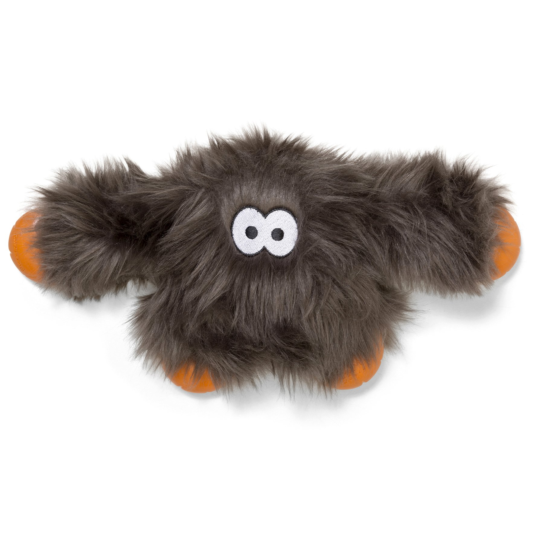 West Paw Rowdies with HardyTex and Zogoflex, Durable Plush Dog Toy for Medium to Large Dogs, Jefferson, Pewter Fur by West Paw Design