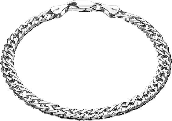 Braccialetto in argento ideale come regalo per uomo con custodia per gioielli