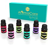 EA AromaCare Aromatherapy Essential Oils Blends Gift Set, Therapeutic Grade, 100% Pure, (Detox, Immunity, Rejuvenate, Sleep Well, Relax and Muscle Relief) Great Essential Oils Set