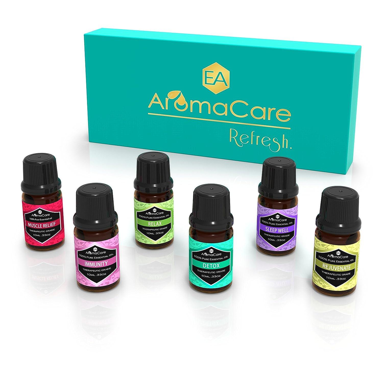 Amazon.com: EA AromaCare Aromatherapy Essential Oils Blends Gift Set ...