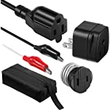 Dreyoo Circuit Breaker Finder Adapter Accessory Kit, Circuit Breaker Leads Tester with Clips, Light Socket, 3-2 Prong Groundi