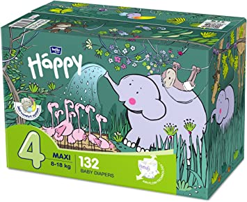 Maxi Plus 1 x 124 St/ück bella baby Happy Windeln Gr/ö/ße.4 1er Pack