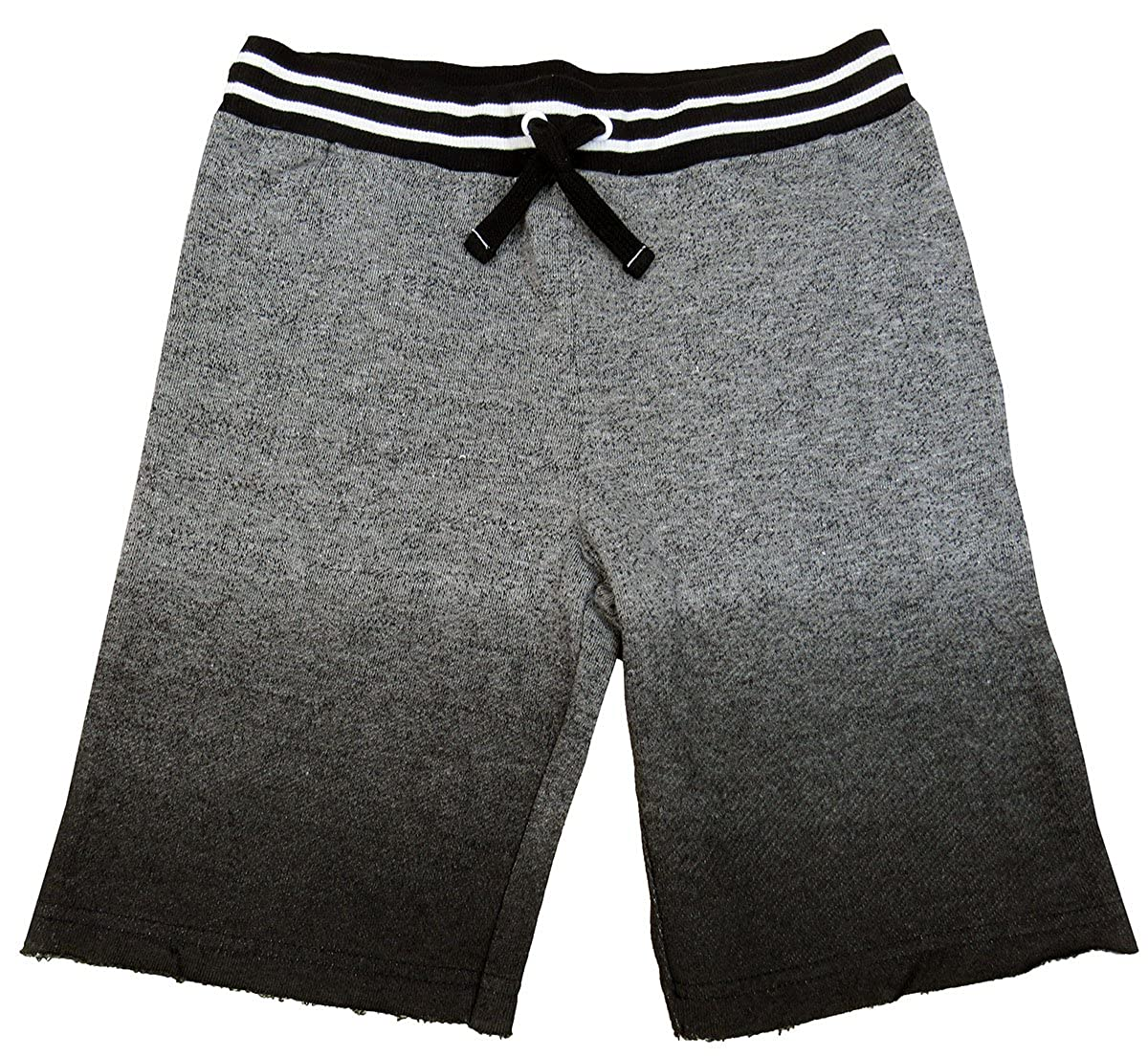 Epic Threads Little Boys 2T-7 Frayed Knit Shorts Heather Grey 7