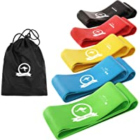 Mighty Aussie Resistance Bands - Set of 5 Anti-Slip Rubber Loops for Workout, Stretching, Strength Training…