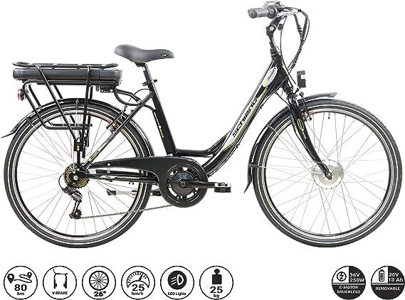 F.lli Schiano E- Moon Bicicleta eléctrica: Amazon.es: Deportes y ...
