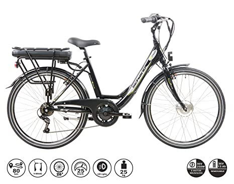 Flli Schiano E Moon Bicicletta Elettrica Adulto Nera 26