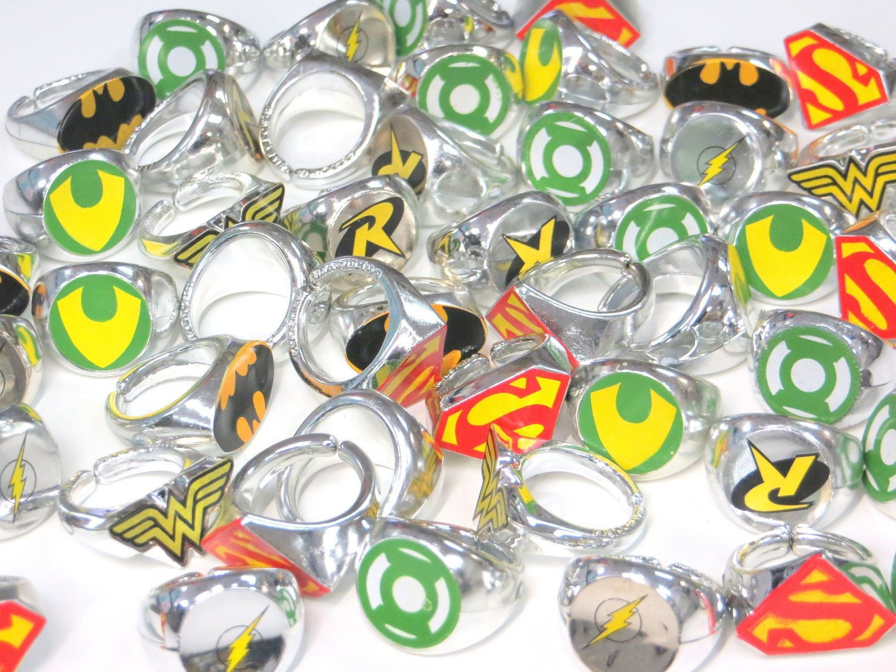 DC Superhero Novelty Power Rings 4 Dozen (48 Rings) by DC Comics