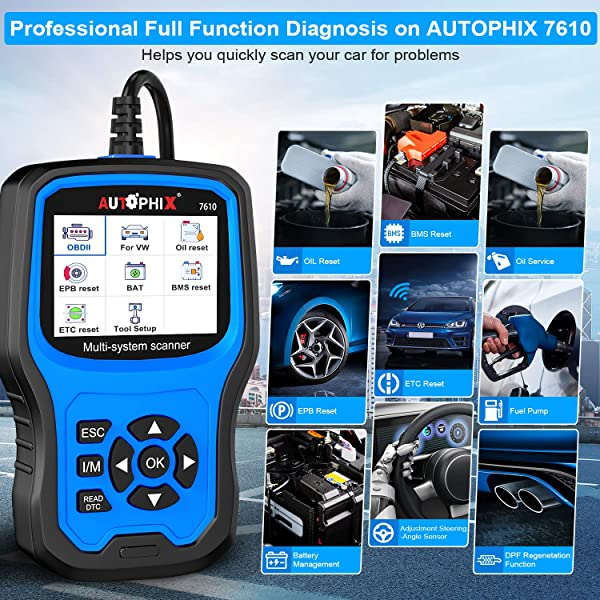 Compared to Ancel VD500 and VD700, Autophix AP7610 is the only scan tool in this list that has the full ten obd2 functions.