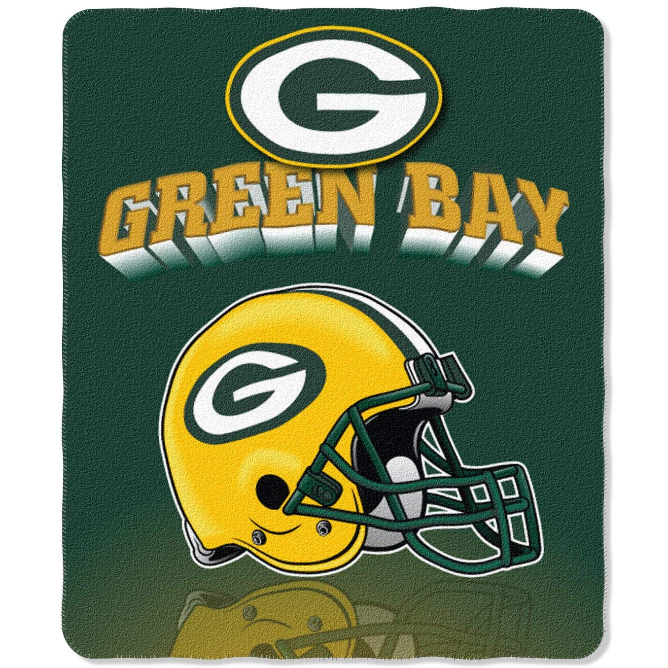 SLW Green Bay Packers Fleece Throw Blanket 50X60
