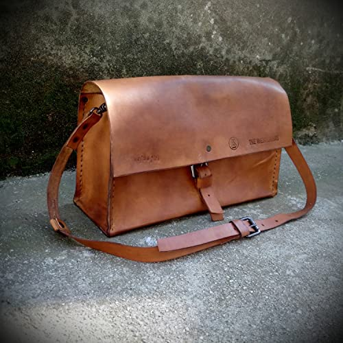 Image Unavailable. Image not available for. Color  Handmade Leather Bag ...