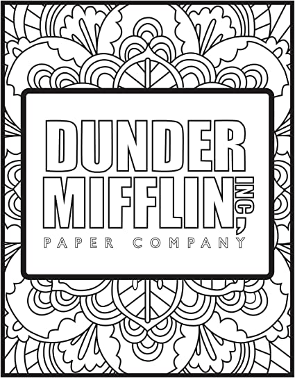 Amazon Com The Office Themed Coloring Pages 5 Pack Arts