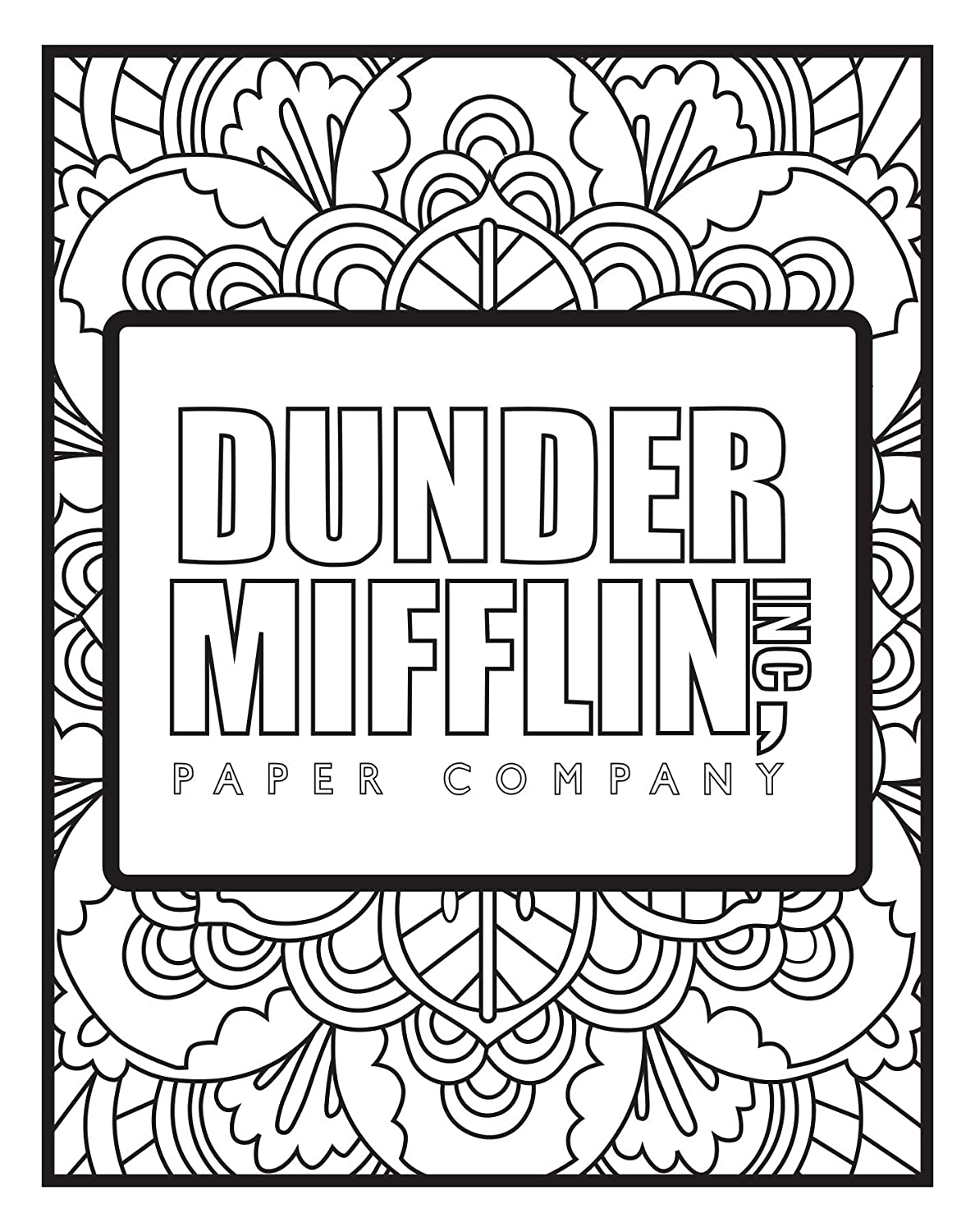 The Office Themed Coloring Pages 5 Pack