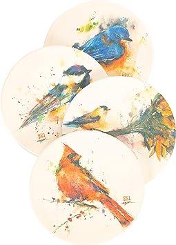 Water Color Bird Coasters