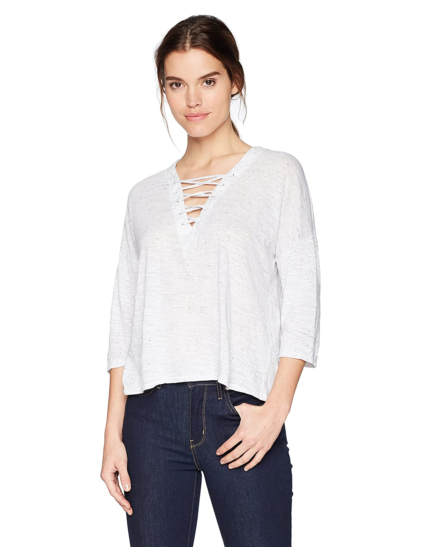 Three Dots Women's Nepps Jersey 3/4 SLV Mid Loose Shirt VF4507