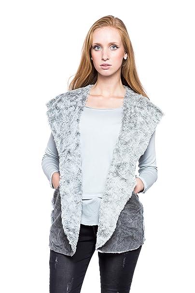 Abbino Wendy Chaleco para Mujer - Hecho en ITALIA - 2 Colores - Abrigo Chaqueta Sin