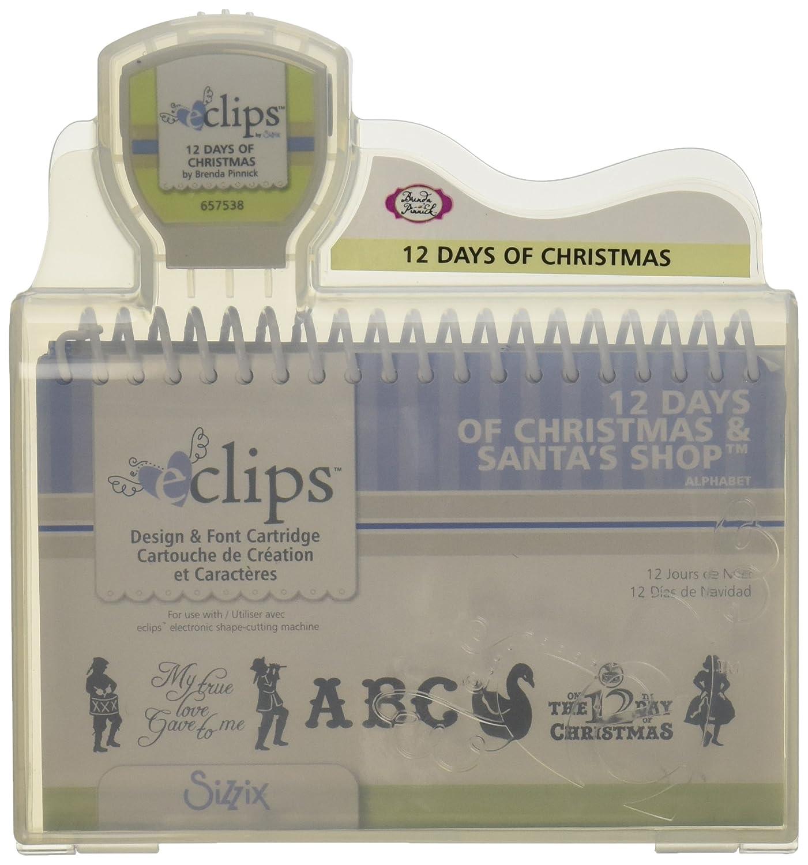 Sizzix eclips Cartridge-12 Days Of Christmas Alphabet (並行輸入品) B005P1RJ12