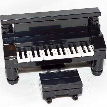 Amazon Lego Furniture Black Upright Piano Custom Set New