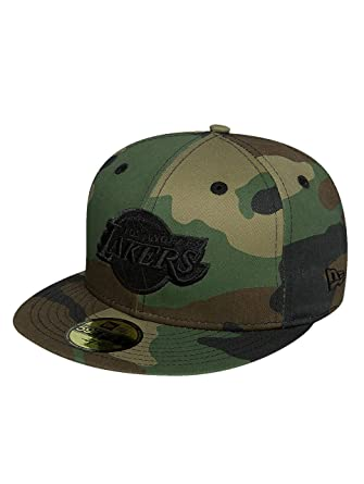 New Era Mujeres Gorras / Gorra plana NBA Camo LA Lakers 59fifty ...